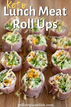 Keto Lunch Meat Roll Ups - an easy low carb snack or meal that can be customized to your liking. Keto Lunch Meat Roll Ups - an easy low carb snack or meal that can be customized to your liking. Keto Foods, Keto Snacks, Healthy Snacks, Low Carb Lunch, Low Carb Diet, Carb Free Lunch, Healthy Eating Tips, Clean Eating Snacks, Healthy Lunch Meat