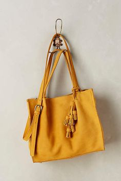 Tasseled Leather Tote - anthropologie.com