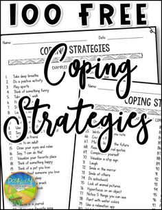 Get your FREE copy of these coping strategies to use with kids and teens in the classroom or at home. They include 100 unique coping skills that students can choose from to manage stress and emotions. #pathway2success Anger Management For Kids, Anger Management Activities, Stress Management, Classroom Management, Social Emotional Learning, Social Anxiety, Social Work, Social Skills, Mental Health Resources
