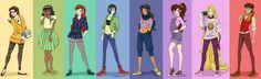 Disney Princesses to go high school: The Art Club