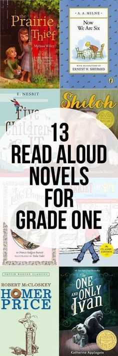 13 Novels to Read Aloud in Grade 1