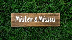 Shop for wedding signs on Etsy, the place to express your creativity through the buying and selling of handmade and vintage goods. Custom Wooden Signs, Mr And Mrs Wedding, Rustic Wedding Signs, Wood Signs, Wedding Events, My Etsy Shop, Awesome, Check, Creative