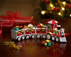 Image for Ceramic Christmas Treat Train from The Original Gift Company