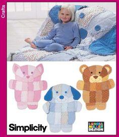 Rag Quilt Cat Dog and Teddy Bear Patterns by CutiePieCraftSupply