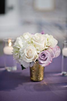 petite mercury glass centerpiece | Harwell Photography #wedding