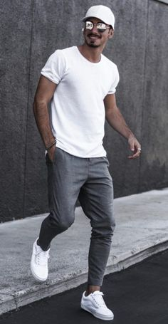 Mens Style Discover 5 Joggers Outfits For Men is part of Streetwear men outfits - Athleisure Outfits Casual Mode Outfits Men Casual Outfits For Men Casual Styles College Outfits Mens Casual Street Style Men Street Styles Men Street Outfit Summer Outfits Men, Outfits Casual, Mode Outfits, Men Summer Style, Summer Clothes For Men, Mens Summer Wardrobe, Simple Outfits, Style For Men, Outfit Formal