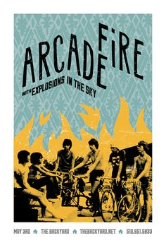 arcade fire music gig posters | series of gig posters created for the Arcade Fire's the Suburbs tour ...