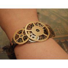 Steampunk Gear Bracelet - Large ($20) ❤ liked on Polyvore