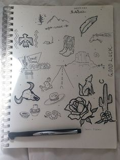 western daydreams ➳ - All About Pencil Sketches Easy, Art Drawings Sketches, Tattoo Drawings, Cute Drawings, Cowgirl Tattoos, Western Tattoos, Future Tattoos, New Tattoos, Small Tattoos