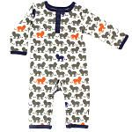 Yoga Sprout Boys White Lion Coverall