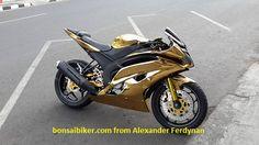 Modif Yamaha NVL Bro Alexander Ferdynan Ala Yamaha R6 Berkelir Gold ini Sungguh Manteb