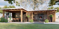 Vinyl Wall Panels, Gazebo, Pergola, Art Of Living, Porch, Villa, Backyard, Outdoor Structures, Cabin