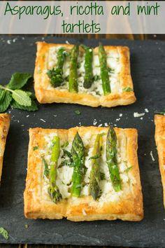 Asparagus, ricotta and mint  tartlets