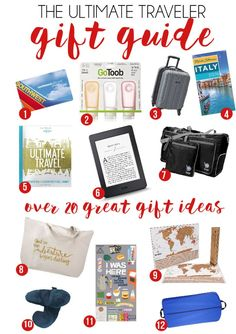 This gift guide for travelers is full of 20 great gifts for travelers including travel gifts for men, travel gifts for friends, and everything in between. Christmas Gifts For Men, Holiday Gifts, Holiday Trip, Christmas 2017, Gifts For Friends, Gifts For Her, Diy Gifts, Best Gifts, Travel Gifts