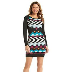Product: Jessica Simpson Printed Sweater Dress