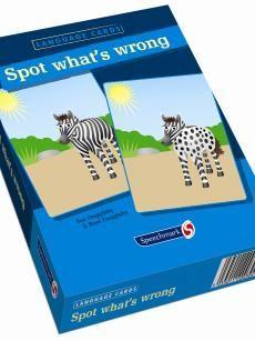 Language cards : Spot what's wrong - Sue Duggleby - #taalvaardigheid #kinderen #logopedie - plaatsnr. 612.6 therapiemat /174 A + B