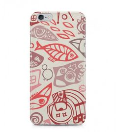 Light Red Fish Abstract Seamless 3D Iphone Case for Iphone 3G/4/4g/4s/5/5s/6/6s/6s Plus - ABSTSEAM0082 - FavCases