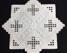 Items similar to Hardanger doily on Etsy Hardanger Embroidery, Embroidery Stitches, Embroidery Patterns, Paper Embroidery, Crochet Hook Set, Crochet Yarn, Doilies Crochet, Bead Loom Patterns, Doily Patterns