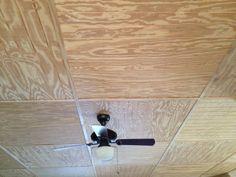 My inexpensive ceiling idea.