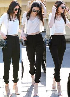 A fashion look from January 2017 featuring white cotton t shirts, cuffed skinny jeans and open toe heel booties. Browse and shop related looks. Kendall Jenner Outfits, Kendall And Kylie Jenner, Chic Outfits, Fashion Outfits, Womens Fashion, Trendy Outfits, Kardashian, Looks Style, My Style
