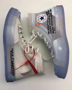 See-through Converse! The last pair of the Nike x OFF____WHITE Supreme collectio. - Soner Örnekol - - See-through Converse! The last pair of the Nike x OFF____WHITE Supreme collectio. Sneakers Mode, Sneakers Fashion, Fashion Shoes, Mens Fashion, Cheap Sneakers, Green Sneakers, Gucci Sneakers, Casual Sneakers, Sock Shoes