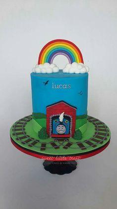 Pitas cake's Thomas The Tank, Birthday Cake, Desserts, Food, Tailgate Desserts, Deserts, Birthday Cakes, Essen, Postres