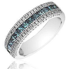Blue Diamond Ring, Absolutely Beautiful!