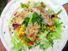 Afrikai harcsa salátával