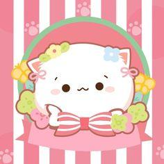 Chibi Cat, Anime Chibi, Cute Wild Animals, Cute Love Pictures, Love Stickers, Kawaii Art, Cute Gif, Cat Art, Cute Drawings