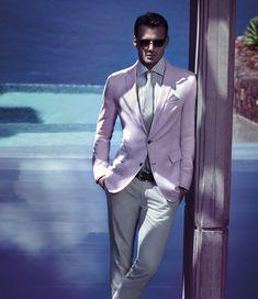 Snaptastic pink and grey. (Hugo Boss Summer 2012)