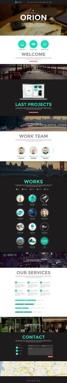 Orion - Responsive One Page Wordpress Template by DarkStaLkeRR.deviantart.com on @deviantART