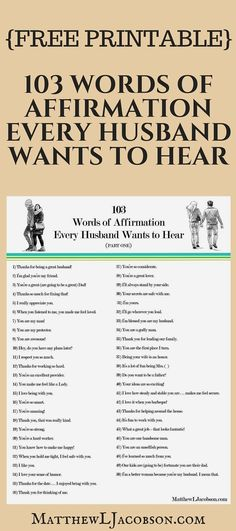 FREE PRINTABLE – This is a powerful list of affirmations for your husband. Speak… FREE PRINTABLE – This is a powerful list of affirmations for your husband. Speaking the words of encouragement, respect, and support makes a massive difference in marriage. Marriage Relationship, Marriage And Family, Marriage Tips, Happy Marriage, Strong Marriage, Marriage Preparation, Godly Marriage, Relationship Building, Successful Marriage