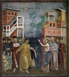 St Francis Renounces All Wordly Goods by Giotto