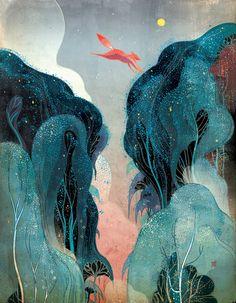 "#WOMENSART on Twitter: ""'Leap' by Victo Ngai, contemporary New York based illustrator from Hong Kong #womensart https://t.co/bUYf8mBUtg"""