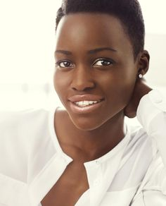 Lupita Nyong'o becomes the first black celebrity spokeswoman for Lancôme. © Alexi Lubomirski for Lancôme