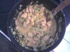 Riz au poulet et aux poireaux - Recette de cuisine Marmiton : une recette