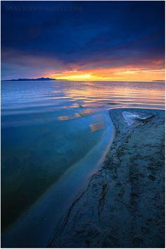 Great Salt Lake, Utah.