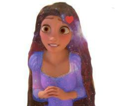 Rapunzel with galaxy hair and dress, by me. :)