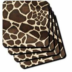 Florene Giraffe Coat Coaster, Soft, Set of 4 by Florene. $15.99. Absorbs moisture. Comes in a set of 4-same image on all coasters. Washable-to prevent image from fading clean with mild detergent using cool water. Dimensions: 3-1/2-inch h by 3-1/2-inch w by 1/4-inch d. Made of recycled rubber. Giraffe Coat Coaster is new commercial quality product that will complement your home decor. Available in 3.5-inch by 3.5-inch soft rubber-backed polyester and 4.25 by 4.2...