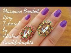 Marquise Beaded Ring Tutorial - YouTube