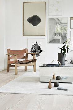The Spanish Chair designed by Børge Mogensen in 1958 found in the home of Danish designer Kristina Dam.