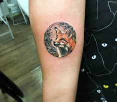 Fox tattoo by Eva Krbdk