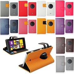 New pu leather wallet book mobile phone flip case cover for nokia lumia 1020