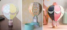Resultado de imagen para decoraciones motivo globos aerostaticos