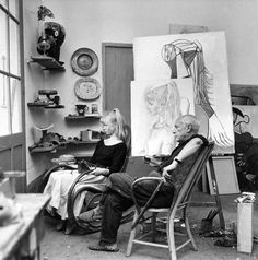 Pablo Picasso at work #inspiration