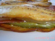 Recetas para Adelgazar : Bocadillos de berengena y jamón serrano.