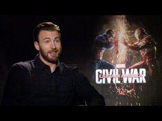 CAPTAIN AMERICA: CIVIL WAR uncensored interviews - Evans, Stan, Mackie, ...