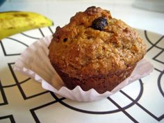 Deceitfully Healthy Peanut Butter Banana Muffins | candacecraves