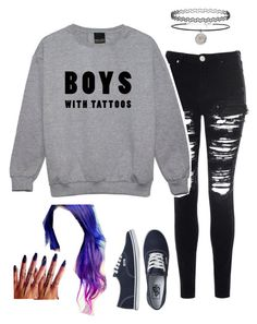 """""""Untitled #1726"""" by music-crazed2001 ❤ liked on Polyvore featuring Glamorous, Topshop and Vans"""