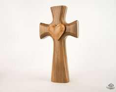 Bible Study Gift | Wooden Cross | Black Walnut Bible Cross®